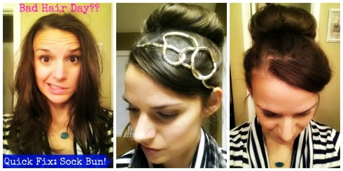 Sock Bun Tutorial: go from dizazz to pizazz in 5 minutes!